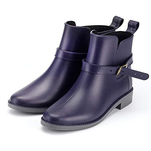 Antiscivolo Stivali Stivaletti Ragazza Gomma Wellington Donna Nero Blu Pioggia Chelsea Marrone Lavoro Boots Bassi Giardino rI8HqI