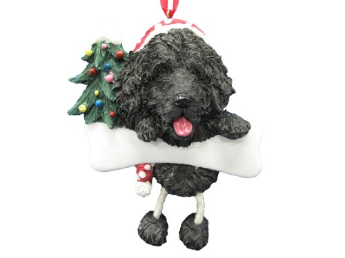 Newfoundland Ornament with Unique ''Dangling Legs'' Hand Painted and Easily Personalized Christmas Ornament by E&S Pets