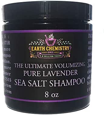 Earth Chemistry Volumizing Sea Salt Shampoo with Mineral Crystals, Volumize Oily or Thin Hair, Sulfate Free, Cruelty Free Shampoo (Lavender)
