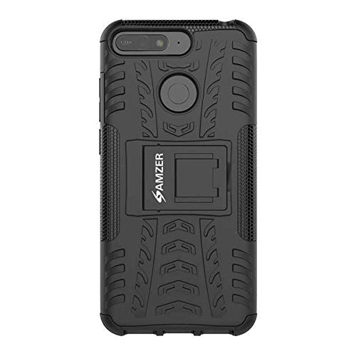 AMZER Hybrid Dual Layer Warrior Case for Huawei Honor 7A - Black