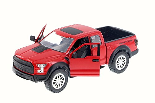 2017 Ford F-150 Raptor Pickup, Red - Jada 98586DP1 - 1/24 Scale Diecast Model Toy Car but NO BOX -  Toyota, 98586DP1-JADA-RED