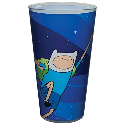 Adventure Time Fist Bump Pint Glass with Jake the Dog and Finn the Human