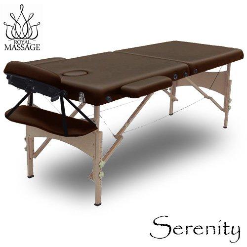 Serenity Deluxe Portable Folding Massage Table w/5 Bonus Items - Chocolate Brown