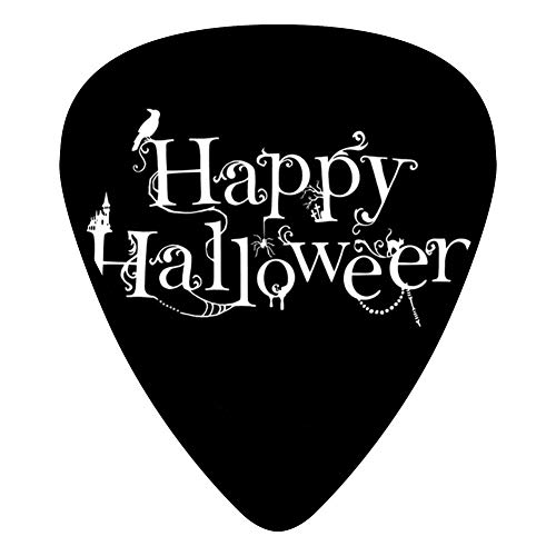 STREMUSIC Happy Halloween Logo Celluloid Electric Guitar Picks 12-pack Plectrums For Bass Music Tool ()