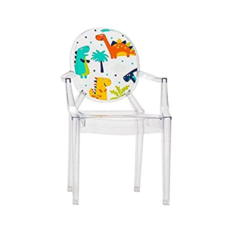 Kartell Lou Lou Ghost sedia per bambini con motivo, light blue/motive prince, Standard