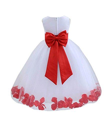 ekidsbridal Wedding Pageant Flower Petals Girl White Dress