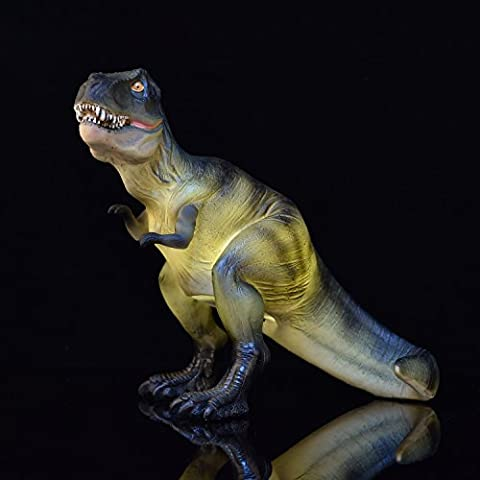 Amazlab Dinosaur Figurine Table Lamp T-Rex Home Decoration, USB and Battery Powered, 4 hour Timer