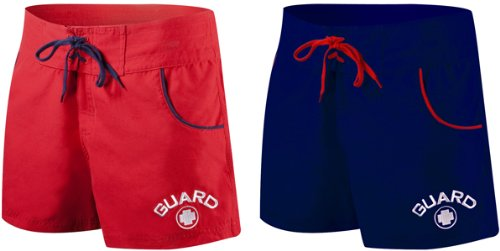 TYR Female Lifeguard Boardshort Guard Short Red Size-Medium (Deck Apparel Tyr)