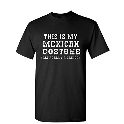 (This is My Mexican Costume Cinco De Mayo Mens Graphic T-Shirt, Black, X-Large )