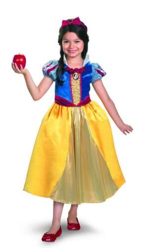 Snow White Shimmer Deluxe Costume - Small (4-6x) (Girls Deluxe Shimmer Snow White Costume)