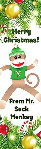 (Merry Christmas Sock Monkey Bookmarks 50)