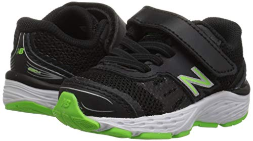 New Balance Boys' 680v5 Hook and Loop Running Shoe Black/RBG Green 2 XW US Infant by New Balance (Image #6)