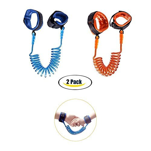 Anti Lost Wrist Link Toddler Safety Wrist Leash Harness Child Walking Wrist Link Wristband Leash for Babies & Kids 2-Pack (4.9ft & 8.2ft)