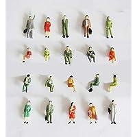 25 x spår H0 resenärer stående + sittande figurer för vagn modelljärnväg 1:87, finmålad!!!