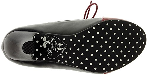 Dancing Days by Banned Schnür-Pumps THE GOOD TIMES ROLL BND236 burgundy-black