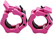 """Barbell Clamp, Dreampark 1"""" 2"""" Diameter ABS Barbells Locking Collars Clamps with Quick Release &"""