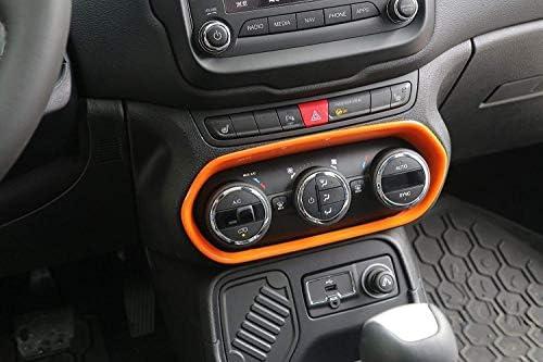 ジープレネゲード 2015-2017 エアコンスイッチ インナートリムフレーム ABS オレンジ