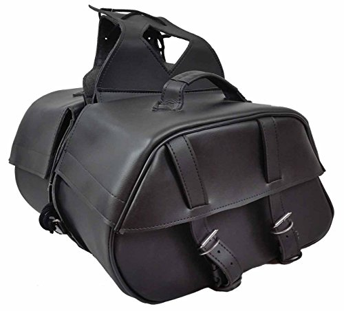 Vance Leather Medium 2 Strap Saddle Bag. Bag 16 x 10 x 6 - Edge Leather Saddlebag