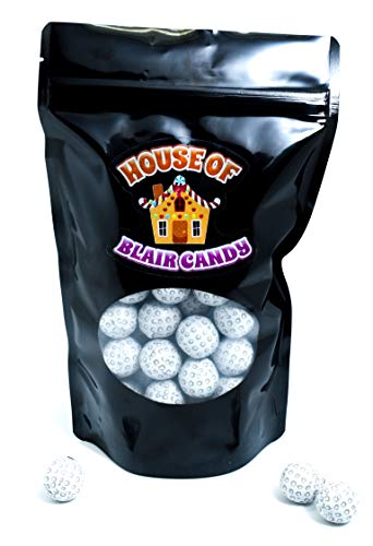 Chocolate Candy Golf Balls - Italian Foil Wrapped Bulk Chocolates - Comes in a 1 Pound Candy Bag That Is Sealed and Resealable
