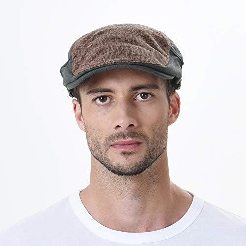 キャスケットハンチング帽トゥートーンブロック サマーニューズボイハット フラットキャップ AC3046