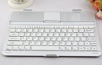 IVSO - Funda de aluminio con teclado Bluetooth y soporte para ...