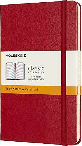 Moleskine Classic Notebook, Hard Cover, Medium (4.5