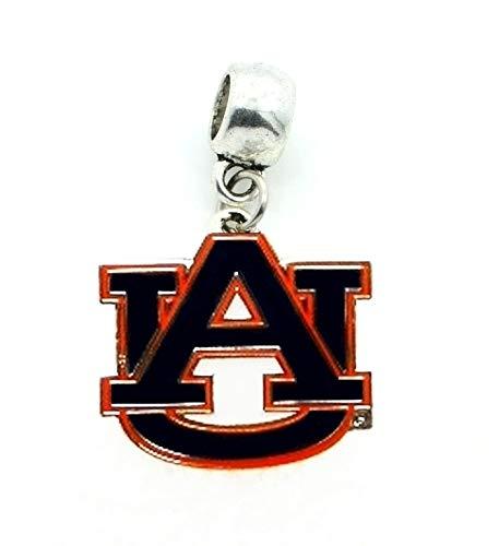 Heavens Jewelry AU Auburn University Tigers Charm Slider Pendant ADD to Your Necklace, European Bracelet, DIY, ETC. ()