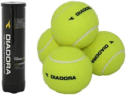 Pack de 4 pelotas de tenis Diadora Entrenamiento Pelotas de Tenis ...