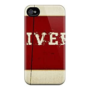 Iphone 4/4s Hard Back With Bumper Silicone Gel Tpu Case Cover Sports Soccer Liverpool Fc