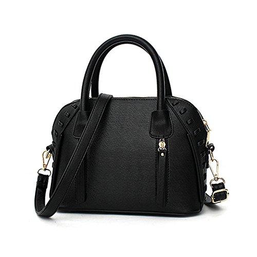 [VVeda Summer and Autumn European and American Fashion Handbag Shoulder Diagonal Packet Shell(Black)] (Dance Costumes Australia Suppliers)