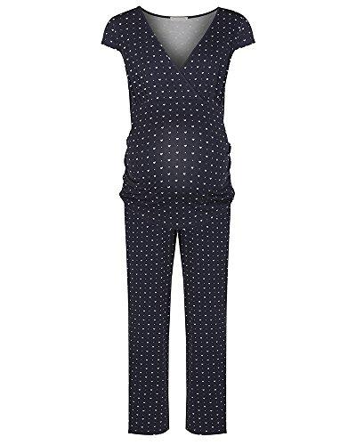 The Essential One- Pijama de lactancia premamá / Camisones para mujer EOM102 Azul