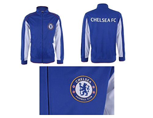 (Chelsea Fc Jacket Track Soccer Adult Sizes Soccer Football Official Merchandise (XL, BLUE))