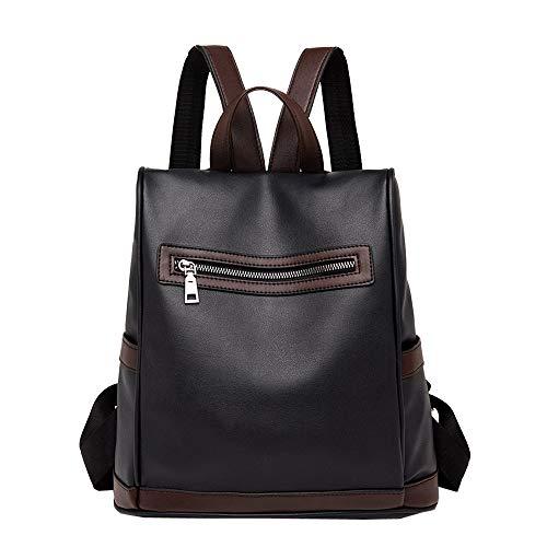 Travel Vintage AgrinTo Clearance Satchel Backpack Shoulder Women's School Black Leather Bag Bag tw8H5Eq5