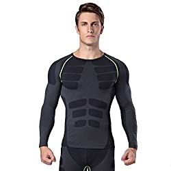 CARVIAN Men's DRI-FIT Mussle Training Compression Base Layer Body Shaper Trimmer