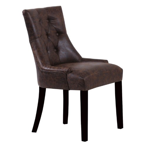 Monsoon Pacific Baycastle Faux Leather Chairs, Rustic Brown, Set of 2