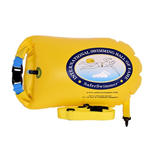 UPC 636160261458, ISHOF SaferSwimmer Personal Large Swimming Float with Dry Storage Large Yellow