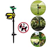 Marketworldcup-Solar ScareCrow Motion Activated Water Animal Repellent Deterrent Sprinkler NEW
