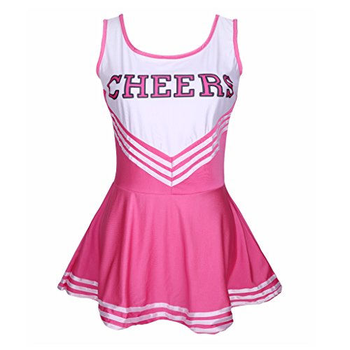 Colorful House Women's Musical Cheerleader Costume Uniform Fancy Dress Hot Pink L US 12-16 (Fancy Dress Costume)