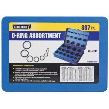 397 Piece Metric O-Ring Assortment