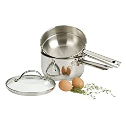 Double Boiler 2 Quart Polished Stainless Steel