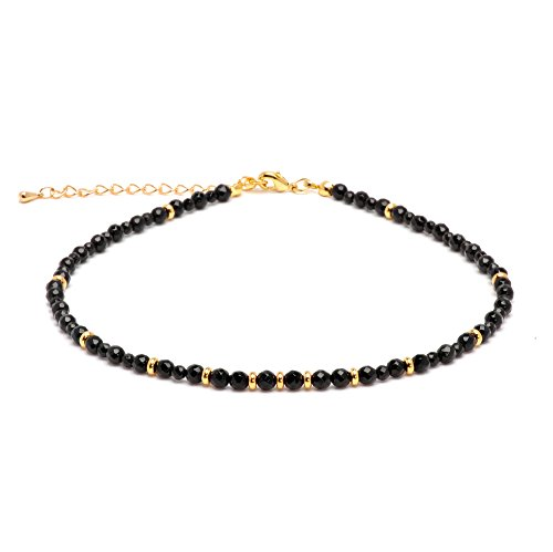 4 Mm Onyx Necklace - 4
