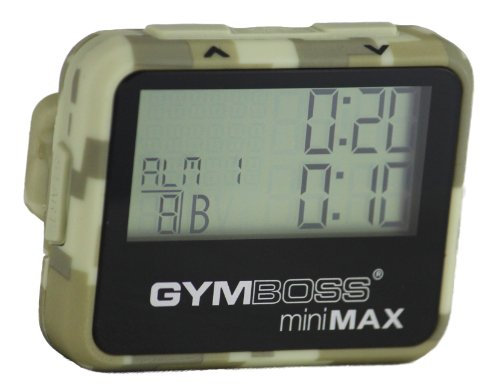 Gymboss miniMAX Interval Timer and Stopwatch CAMOUFLAGE / TAN SOFTCOAT