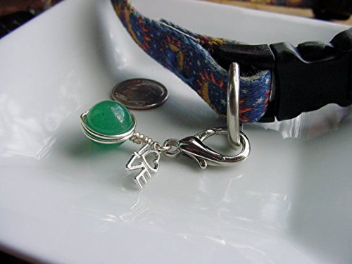- Gemstone Pet Collar Charms, Semi Precious Stones, Love Charm, Chakra, Well-being, Pet Accessories, Animals,