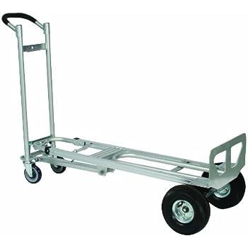 wesco 270391 aluminum spartan iii convertible hand truck pneumatic wheels 750 lb - Convertible Hand Truck