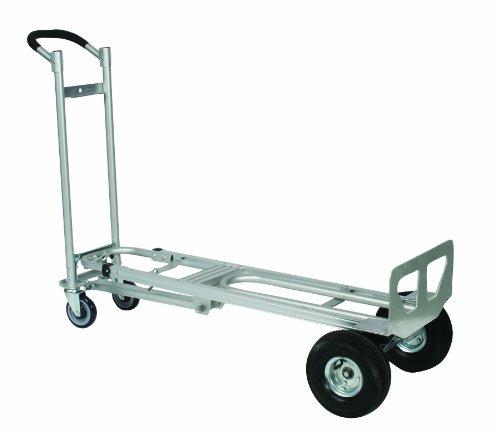 Wesco-270391-Aluminum-Spartan-III-Convertible-Hand-Truck-Pneumatic-Wheels-750-lb-Load-Capacity-52-Height-19-Depth-x-21-12-Width