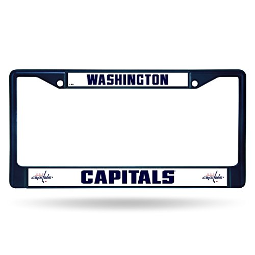 Rico Industries NHL Washington Capitals Team Colored Chrome License Plate Frame, Navy