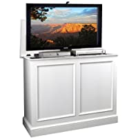 Carousel White TV Lift Cabinet