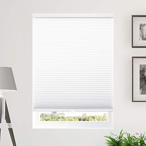 CHICOLOGY Cordless Cellular Shades Privacy Single Cell Window Blind, 24