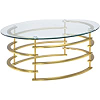 HOMES: Inside + Out IDF-4359GL-C Natalie Coffee Table, Gold