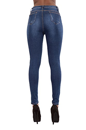 mujer para High Blue LustyChic skinny Waisted Vaqueros 7twxHa